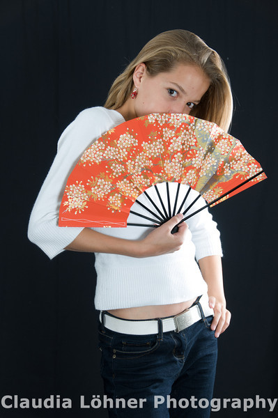 flirting with a Japanese fan