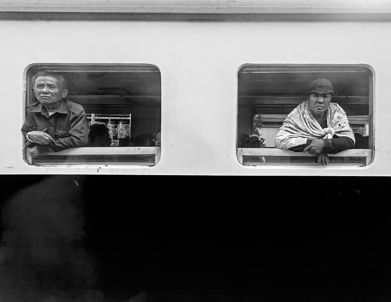 Thai train passengers
