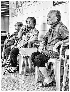Ladies waiting for the Chung Chau ferry.