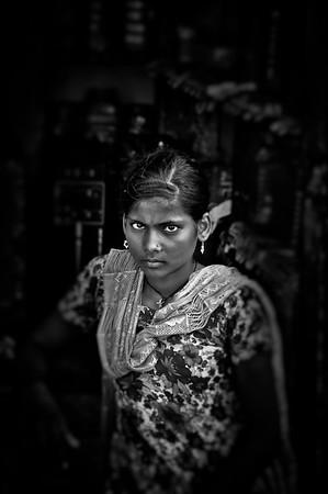 portraits d'Asie N&B  focusés (  Kids  )