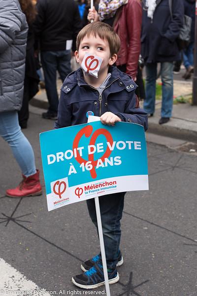 Paris, marche de la France Insoumise