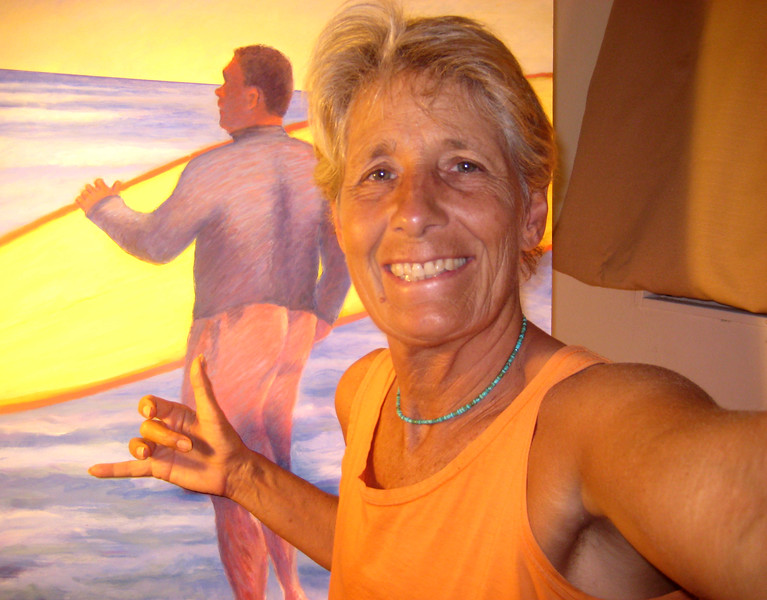 "SOVEREIGNTY    Kenny, Hawaiian Surfer, acrylic 40 x 30   2012<br /> <br /> PORTRAITS<br /> WE THE PEOPLE series<br /> I love to paint people! I enjoy discovering the individual's story.<br /> ""My Goal is to express your Soul."""