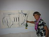 Being silly at Balcony Gallery Show<br /> Jodi Endicott, Artist<br /> Kailua, HI