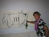 Being silly at Balcony Gallery Show<br /> Jodi Endicott, Artist<br /> Kailua, HI