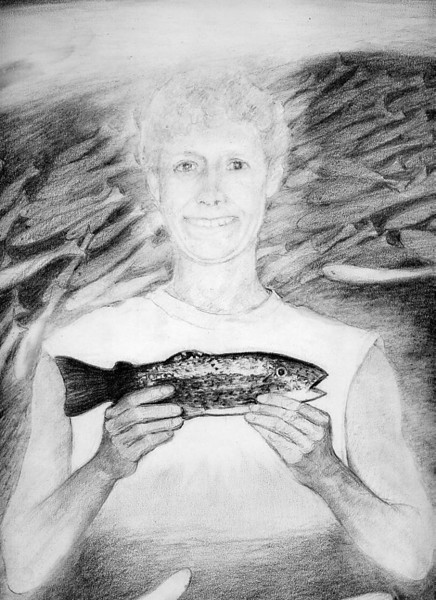 FINDING THE MAGIC FISH<br /> pencil on paper<br /> detail<br /> 2005