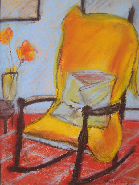 PORTRAIT OF MY MOTHER<br /> 18 X 14 soft pastel on Canson paper $450<br /> giclee and inkjet prints available