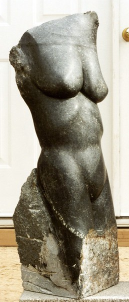 "2. Goddess Series: ""Diana, the Athlete"" steatite $5900.(SOLD)<br /> Here is the finished piece started in previous photo."