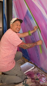 Mike Ban Tyau, mural artist