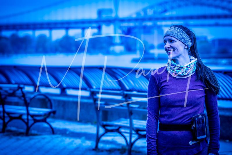 Runner in Blue