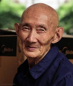 Blind Tibetan man