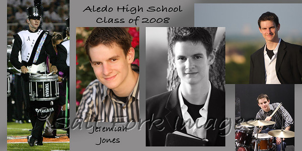 This is a custom graduation announcement that I did for Jeremiah in 2008.  These print on 4x8 cards and come with envelopes.  Prices are $30 for 20, $60 for 50, and $110 for 100 cards.