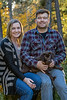 Family portrati, couple with puppy