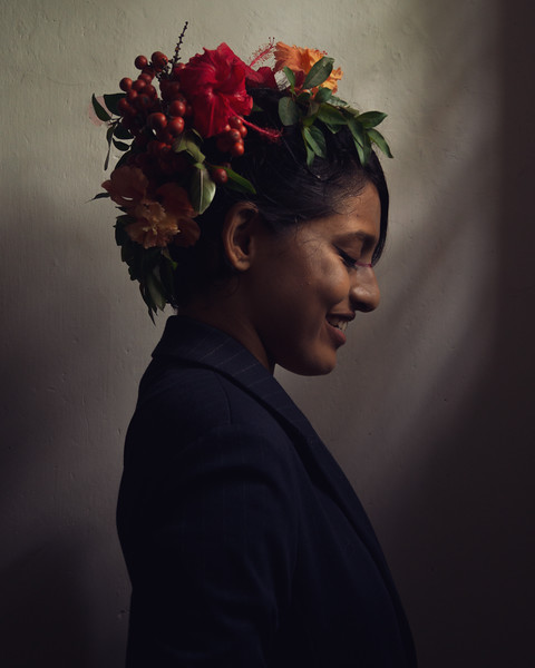 Portrait of a women in colour