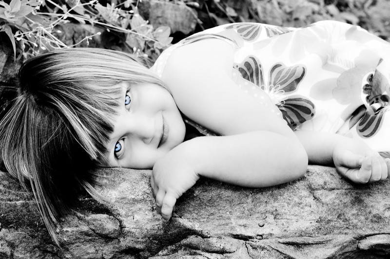 dsc_0140... so I experimented some with this one... I loved it in black & white, but wanted to still see those blue eyes... love the innocence in her sweet face!