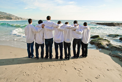 Basketball team portraits at the Laguna Beach Tide Pools near the Montage Resort in Laguna Beach