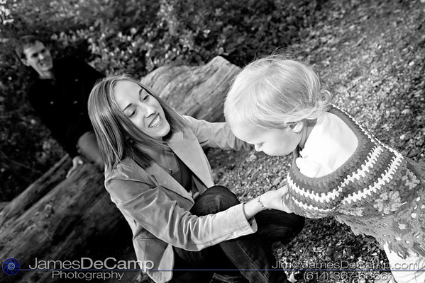 Family portrait session with David, Carrie and Reese Benseler at the Inniswoods Gardens Metro Park Sunday afternoon October 23, 2011 (© James D. DeCamp • http://www.JamesDeCamp.com • 614-367-6366)