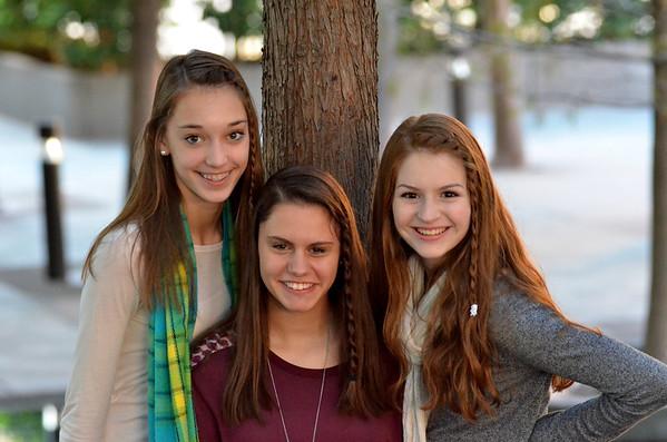 2012: Ella, Grace Anne and Madeleine - Downtown Dallas - Nov. 18