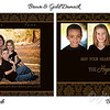 Card Sample Brown &Gold Damask