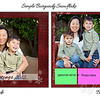 Card Sample simple burgundy