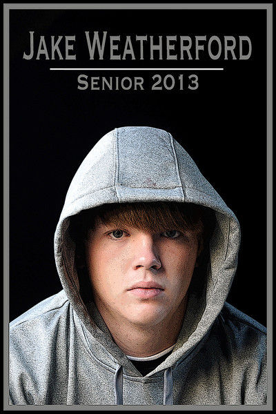 Jake Weatherford Senior photo poster edges
