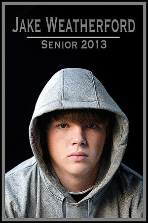 Jake Weatherford Senior photo poster edges