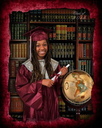 2014 Grad with globe_LeNae Stern