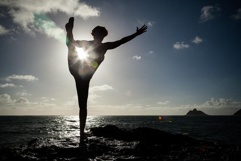 Yoga promotional images, Kailua, Oahu, Hawaii