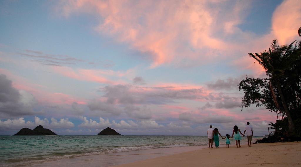Sunset at Lanikai Beach, Oahu, Hawaii