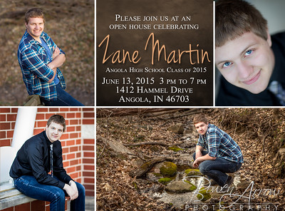 Zane Martin Invitation Back