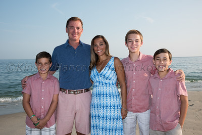 Gregory Family at Stone's Beach, Nantucket, MA July 13, 2015