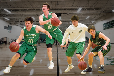 Litchfield Dragons, Boys Basketball vs Hutchinson Tigers