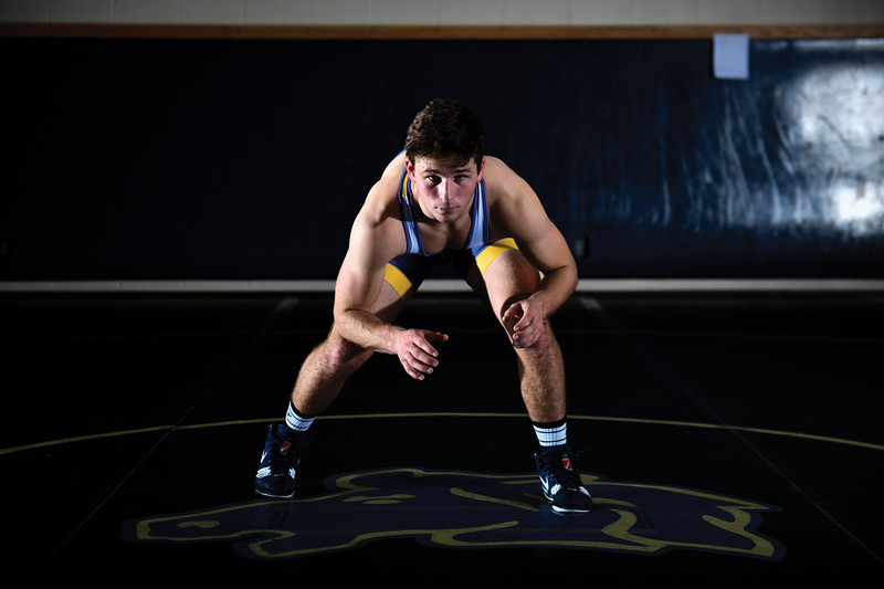 Matthew Gaston | The Sheridan Press<br>Sheridan High School wrestler Quinn Heyneman Thursday, Dec. 13, 2018.