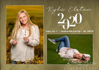 Kyla Elsten Invitation 2020 Front
