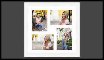 4 in white frame