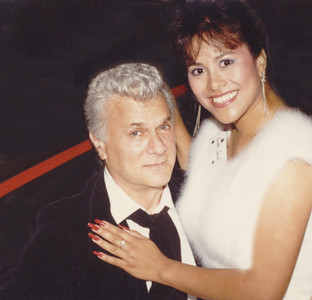 Tony Curtis & Miss Hawaii, 1989~  published in Aloha Magazine & another Hawaii newspaper