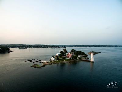 Rock Island Lighthouse at Sunrise