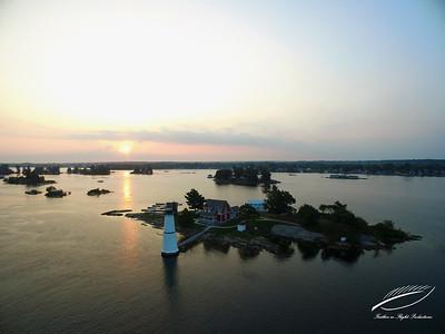 Rock Island Lighthouse at Sunrise 3