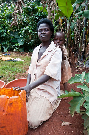 A Jinja grandmother with her grand daughter