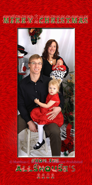 4x8 Allshouse christmas card