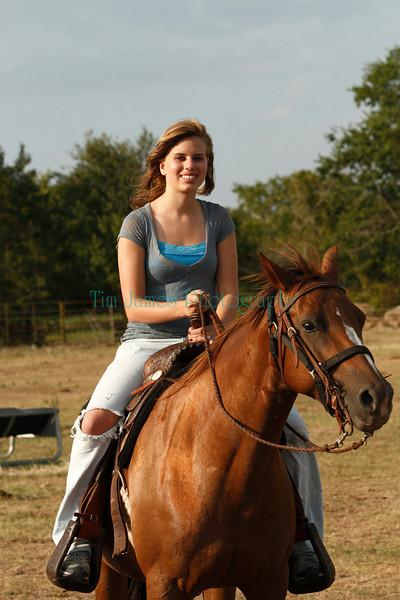 Alyssa Riding Horse Texas Vacation 2009