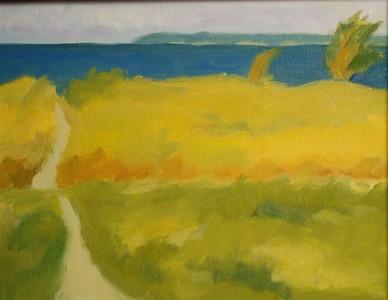 Holly Sturges, Beach Path, 16x20 oil on canvas