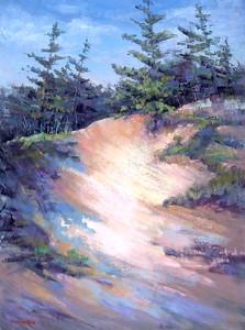 Barbara Reich- Leelanau Dunes and Trees, 24x18, $1750