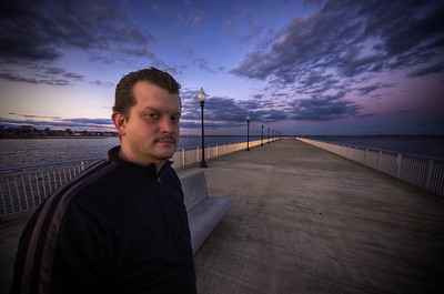 """Adam P. Cray at the Fort Taber Pier"" December 30th, 2011 New Bedford, MA"