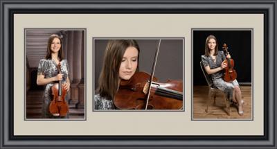 Black frame 3-up viola