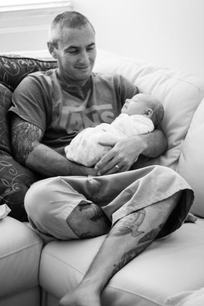 Proud dad Brad with Micah
