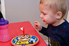 Blowing out my candles. - Owen - Dec 2008