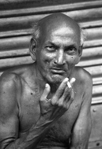 Old man and his smoke