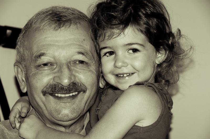 Felix Kleyner and his granddaughter Nikita Kleyner
