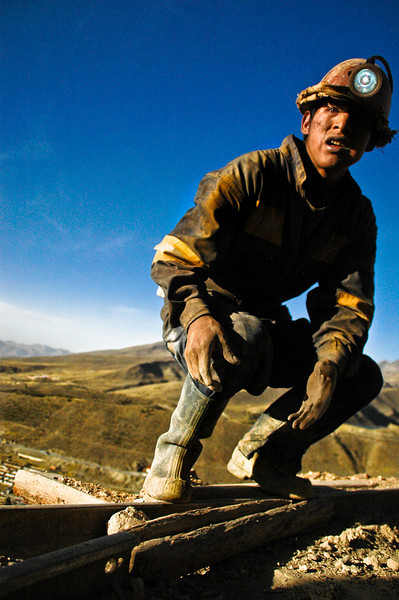 14-year-old at work at the silver mines of Cerro Rico, Bolivia, 2010.