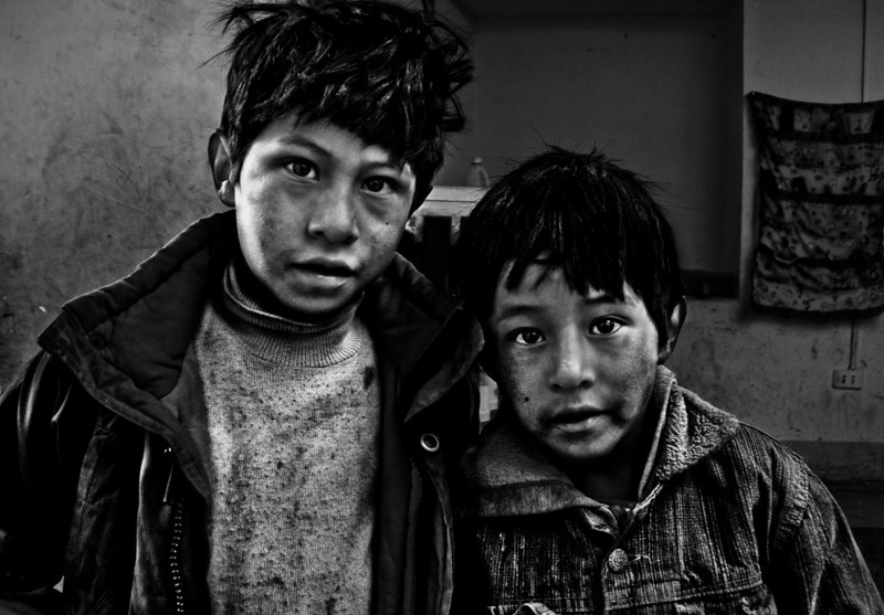 Orphans at the silver mines of Cerro Rico, Bolivia, 2010.